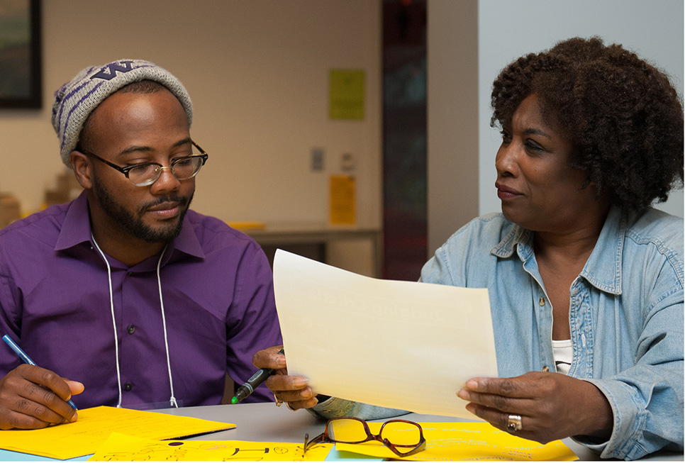 Two participants at our fourth Startup Weekend offered at the Central Library.