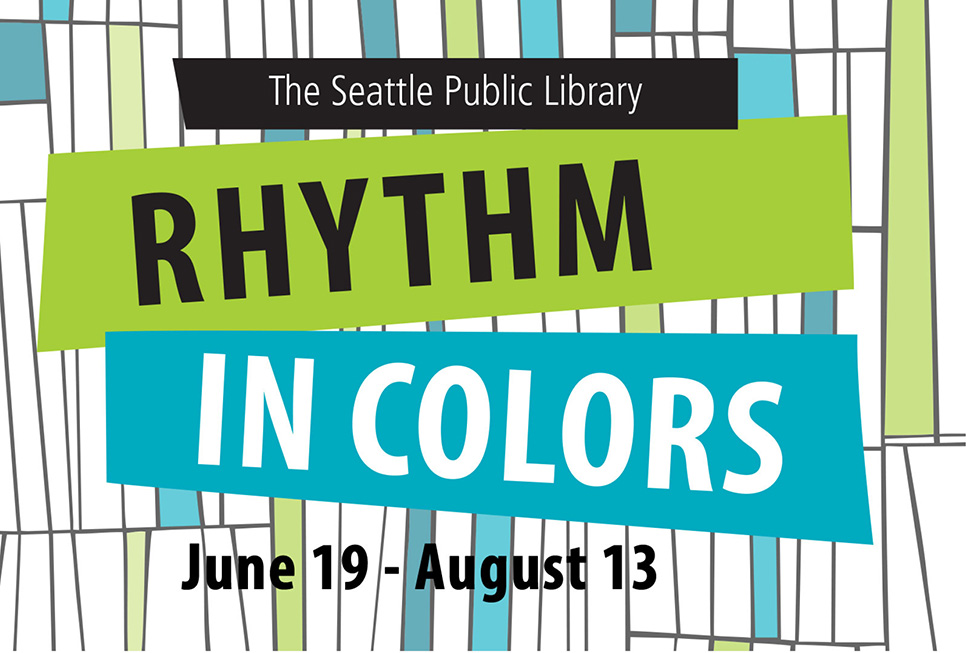 Promotional materials from our Rhythm in Colors exhibit