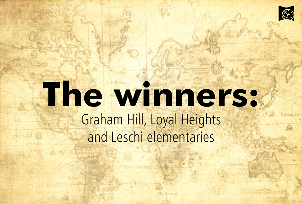 The winners: Graham Hill, Loyal Heights and Leschi elementaries