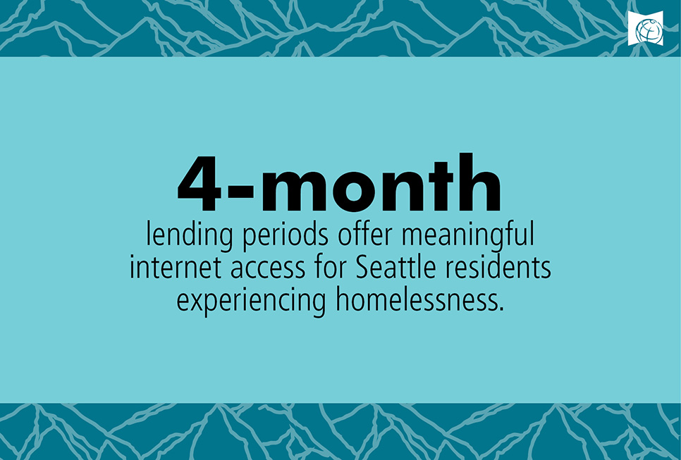 4-month lending periods offer meaningful internet access of Seattle residents experiencing homelessness