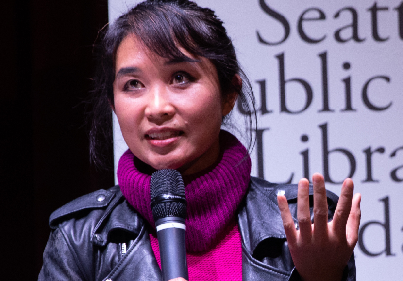 Seattle Reads 2019 author Thi Bui at a Seattle Reads event
