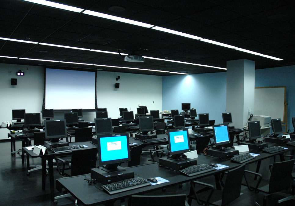 A computer classroom for patrons at the Central Library
