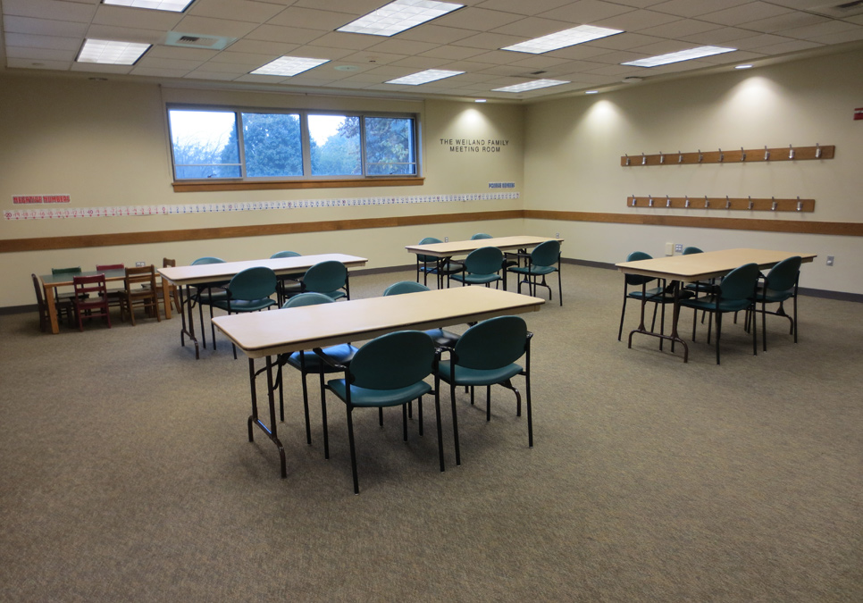 Meeting room area at the Columbia Branch