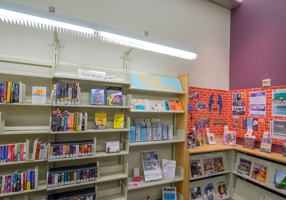 Teen area at the Delridge Branch