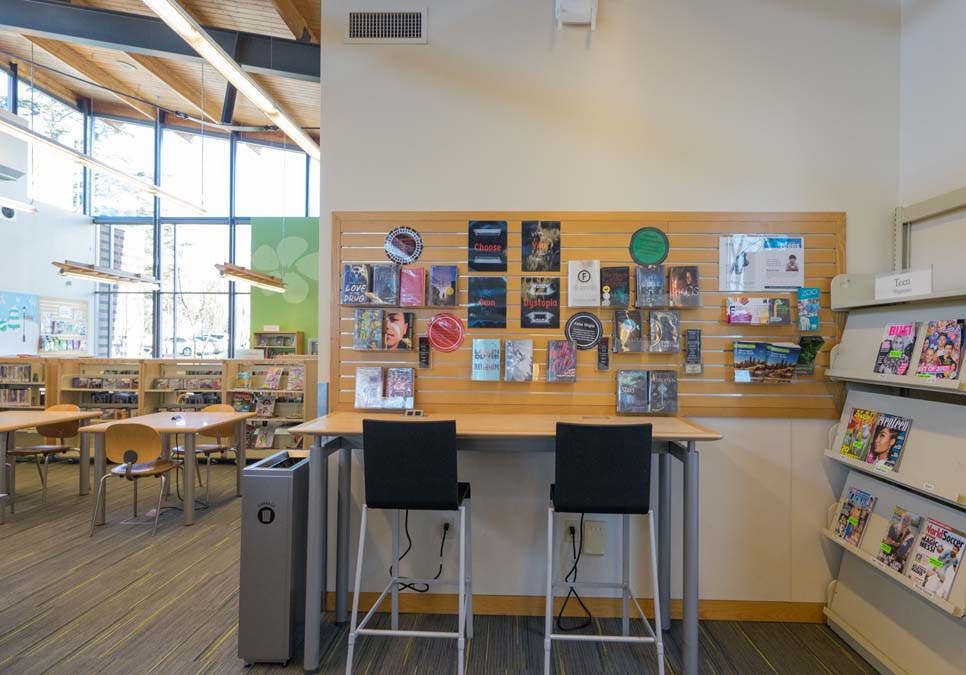 Teen area at the High Point Branch