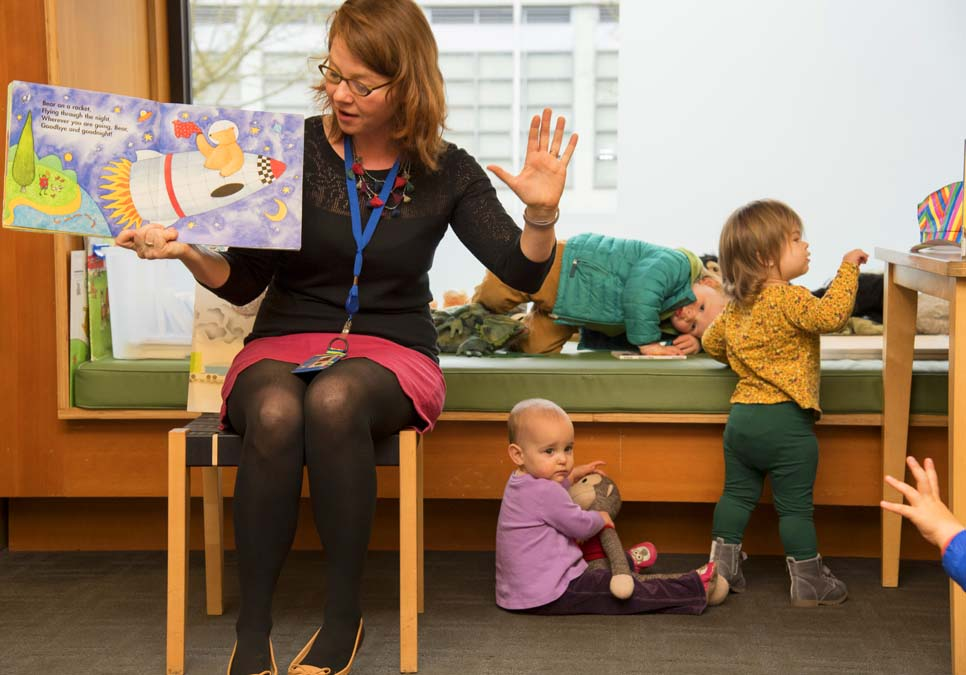 Children's story time at the Madrona-Sally Goldmark Branch