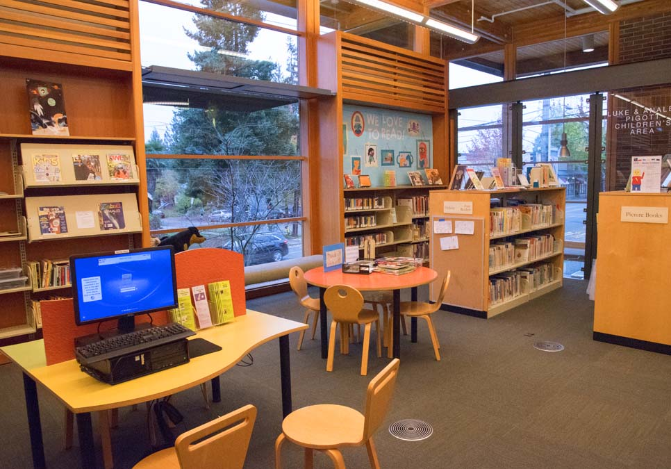 Children's area at the Montlake Branch
