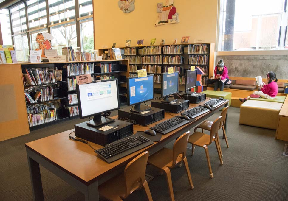 Children's computer area at the Northgate Branch