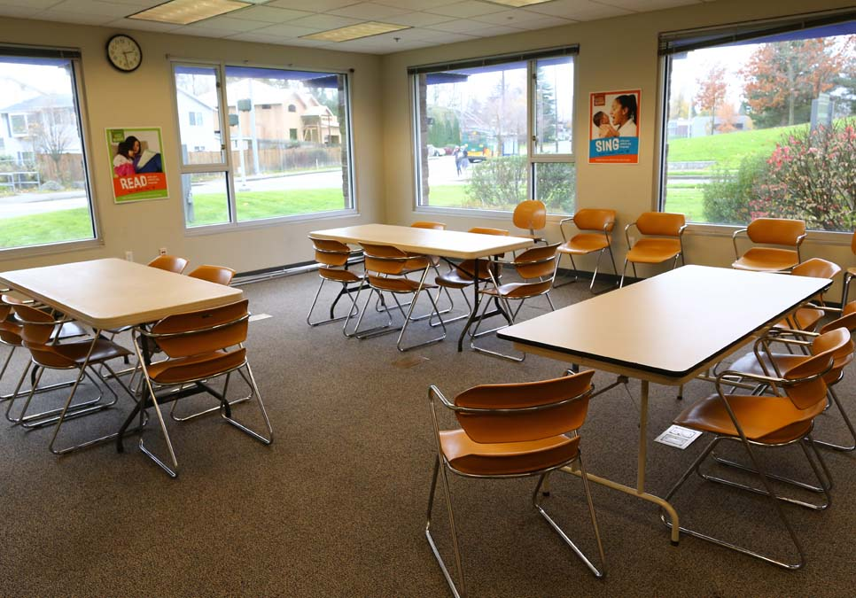 Meeting room area at the NewHolly Branch