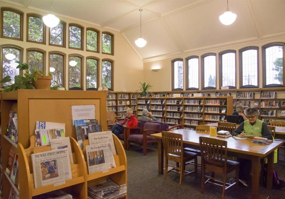 Library patron seating area at the Queen Anne Branch