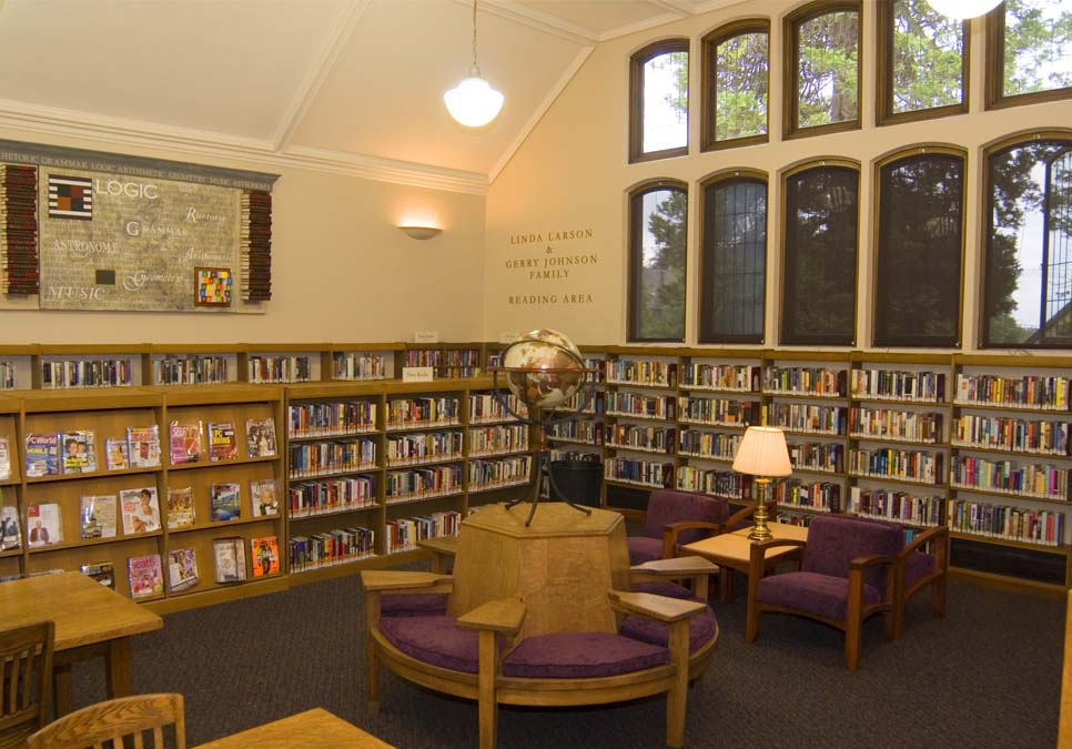 Reading room area at the Queen Anne Branch