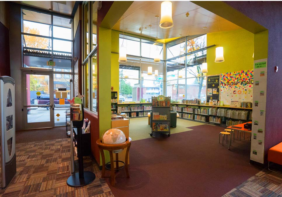 Children's area at the South Park Branch