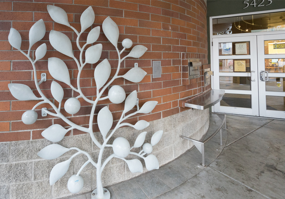 Artwork by Nick Lyle and Jean Whitesavage at the Delridge Branch