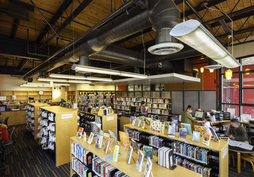 Interior view at the Wallingford Branch