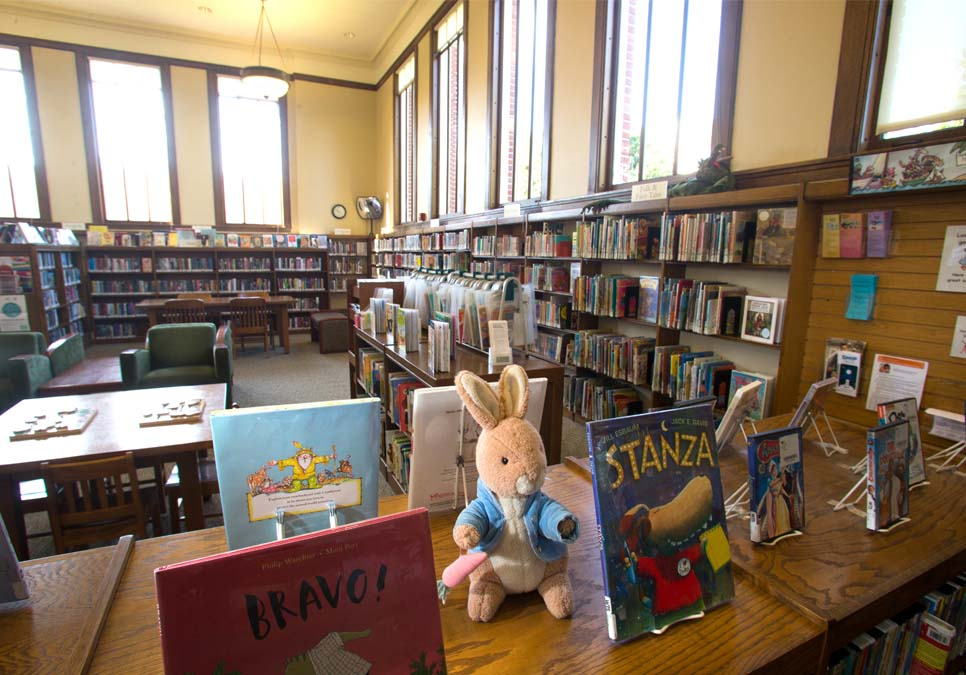 Children's area at the West Seattle Branch