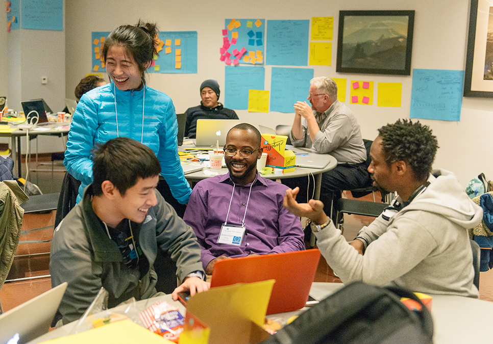 Participants at Startup Weekend at the Central Library