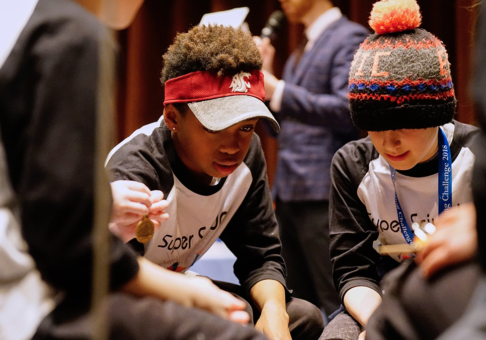 Students at Global Reading Challenge at the Central Library