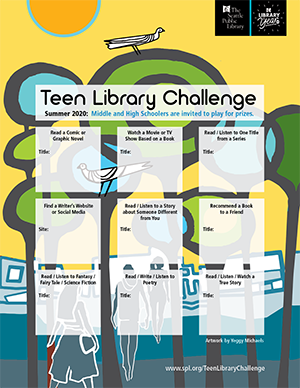 20120 teen Library challenge card