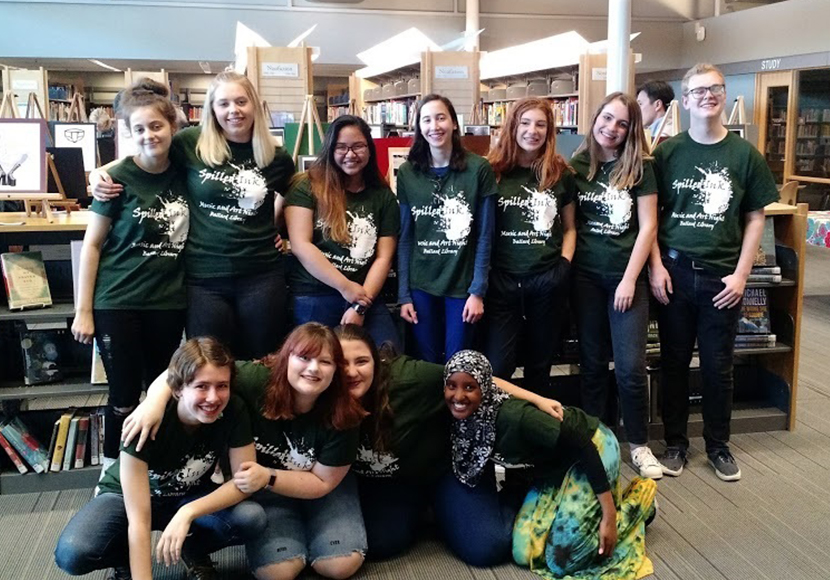 teens at spilled ink event at ballard branch
