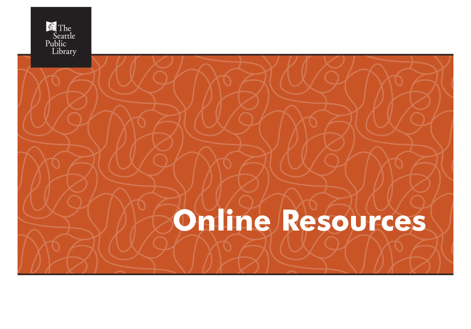 "Orange screen with the words ""Online Resources"""